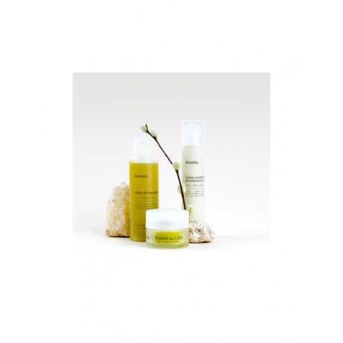 Coffret TRIO Cosmétiques CBD : Baume + Crème + Huile de massage