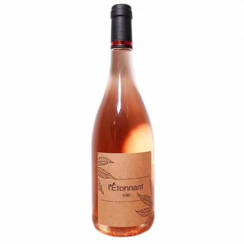 Vin rosé au CBD - L'étonnant